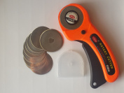 45MM Rotary Cutter with 10 New 45mm Blades