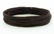CHOCOLATE BROWN 1mm Waxed Polyester Twisted Cord Macrame Bracelet Thread Artisan String
