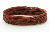 OLD COPPER 1mm Waxed Polyester Twisted Cord Macrame Bracelet Thread Artisan String