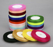 Closeout Sale 800 yards of 1.6cm Plain Sheer Organza Nylon Ribbon