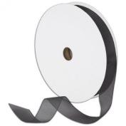 1.6cm Plain Sheer Organza Nylon Ribbon 100 Yards - black