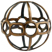 CYAN DESIGN 08291 Large Breezy Ball Filler, ANTIQUE BRASS