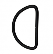 Amanaote Black 5.1cm Inner Diameter D Ring D Rings Non Welded Pack of 6