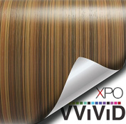 VVIVID Striped Maple Wood Grain Faux Finish Textured Vinyl Wrap Film for Home Office Furniture DIY Easy to Instal No Mess 0.3m x 120cm