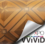 VVIVID Parquette Mosaic Inlay Wood Grain Faux Finish Textured Vinyl Wrap Film for Home Office Furniture DIY Easy to Instal No Mess 0.3m x 120cm