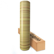 VVIVID Light Striped Oak Wood Grain Faux Finish Textured Vinyl Wrap Film for Home Office Furniture DIY Easy to Instal No Mess 45cm x 120cm