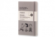 Moleskine 2016-2017 Peanuts Limited Edition Weekly Notebook, 18m, Large, Dark Grey, Hard Cover