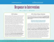Response to Intervention Quick Reference Guide