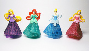 4 psc disney princessMini figures toys party favour birthday cupcake toppers cartoon series to children's holiday miniature, surprise baby, party favour Figurine birthday