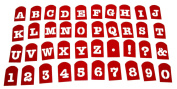 Perfect Brownie Pan Stencil Set of 40 Pieces Including Alphabets, Numbers & Signs. Plastic Letter Stencils, Plastic Stencil Set.