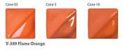 Amaco Velvet Underglaze - 60ml - V-389 Flame Orange