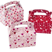Valentine Treat Boxes - Set of 24 Heart Paper Mini Treat Boxes