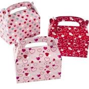 Valentine Treat Boxes - Set of 24 Heart Paper Mini Treat Boxes