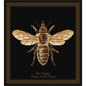 Thea Gouverneur 18 Count Honey Bee on Aida Counted Cross Stitch Kit, 20cm x 21cm