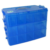 EnviUs SnapCube - Snap & Stackable Storage Case for Rainbow Loom + Arts & Crafts - Blue