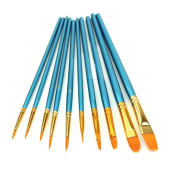 CP-HOPE 10pcs Nylon Hair Paint Brush Set for Watercolour Oil Acrylic Painting