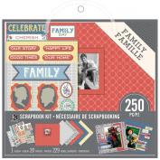 K & Company Scrapbook Kit, 20cm by 20cm , Family