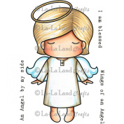 La-La Land Paper Doll Luka - Angel - Cling Mount Rubber Stamps 4.5x3.5