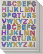 Jazzstick A to Z Colourful Alphabet letters Decorative Sticker 10 sheets for scrapbook and decorative
