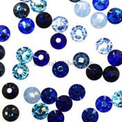 . 2058 SS16 (3.9mm) crystal flatbacks No-Hotfix rhinestones BLUE Colours Mix