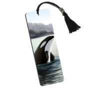 Orca Killer Whale Printed Bookmark with Tassel