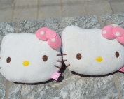2 Pcs of Hello Kitty Head Plush Car Pillow, Car Accessories