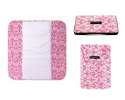 Set of the Plush Pad, Nappy Pouch and the Wipes Case, Charleston Design