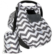 Baby Car Seat Cover with Window Flap System - Control Light, Temperature, Visibility!