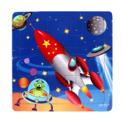 Sandistore Wooden Kids Jigsaw Toys for Children Education And Learning Puzzles Toys