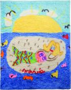 Manual Miss Mavis Fun House Natalie the Mermaid Dyed Plush Fleece Baby Blanket Throw SANTMR 80cm x 100cm