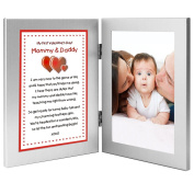 Celebrate Baby's First Valentine's Day - Poem From Baby to Parents - Photo Keepsake of the Baby Boy or Girl