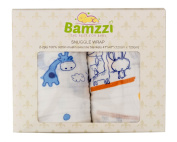 #1 Best Swaddle Blanket Set ,100% Cotton Muslin,Great for Baby Shower Gift, Large size 120cm x 120cm for Easy Swaddling