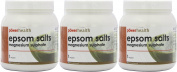 (3 PACK) - Power/H Epsom Salts | 1kg | 3 PACK - SUPER SAVER - SAVE MONEY