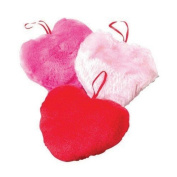 Lot Of 12 Assorted Colour Plush Hanging Heart Toys