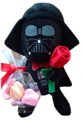 Valentine's Day Star Wars 15cm Darth Vader Plush with Rose and Candy Hearts