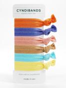 CyndiBands Elastic Hair Ties - Set of 6