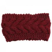 Encounter Womens Plain Braided Winter Knit Headband
