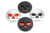 Aridox(TM)6.4cm 3D Skull Car Sticker ABS Auto Car Truck Bike Moto Motorcycle Emblem Badge Decal Sticker Car Styling