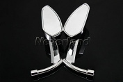 Aridox(TM)2015 New 8mm 10mm Motorbike Rearview Side Mirrors for Harley Glide Dyna Electra Softail Sportster C10