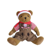 FC Bayern Teddy Bear Costume Trousers 40 CM The Original FC Bayern München Bear contributes not only Genuine Bavarian Lederhosen with Hirschhornknöpfen, it is also suitable as gedressed as from the Boys FC Bayern After the game to Wiesn Go! Material