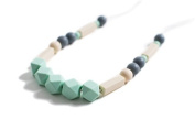 Fiji Silicone Teething Necklace | Safety Knotted Silk Rope | Does Not Pull Hair Out | Pacífico