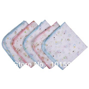 AbleGrow(TM)10pcs/lot New baby face towels layer cartoon cotton gauze handkerchief feeding towels
