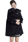 Sweet Mommy Big Collar Maternity and Babywearing Mother Coat