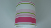 "14""/35cm Paige stripes Green,Pink and White light shade / lampshade..Handmade."