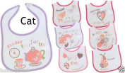 "7 pack BABY BIBS Boys Girls DAYS OF THE WEEK Terry Waterproof back (""all about me"") design"