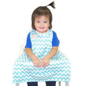 BIB-ON, A New, Full-Coverage Bib and Apron Combination for Infant, Baby, Toddler Ages 0-4+. One Size Fits All!