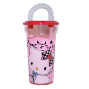 Charmmy Kitty Soda Cup - Children Plastic Glass with Intégrated Straw