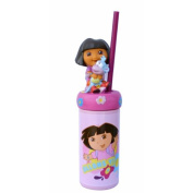 Dora the Explorer Soda Cup - Children Plastic Glass with Intégrated Straw