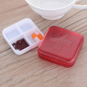 Zophor(TM)Multi-function Four-compartment Pill Organiser Medicine Storage Tablet Holder Jewellery Box Small Objects Container