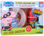Peppa Pig & George 3 Piece Mealtime Set With Easter Egg